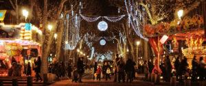Photo du marché de noël à Aix en provence